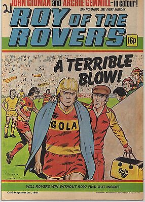 ROY OF THE ROVERS 28th NOVEMBER 1981 VERY GOOD CONDITION