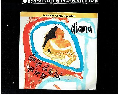 Diana Ross When You Tell Me That You Love Me/chain Reaction Ps 45 1993