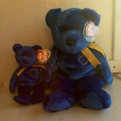 ty beanie babies Unity Eu Collectible Brexit Collectable 2 Bears Excellent