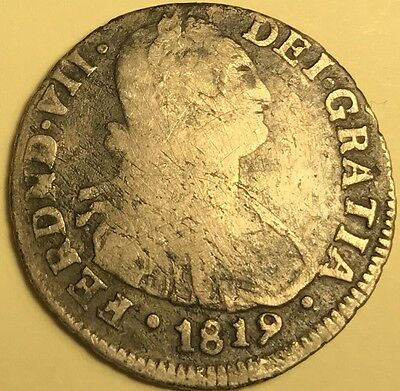 Colombia - Ferdinand VII - 2 Reales - 1819 - P- M.F. - Popayan Mint