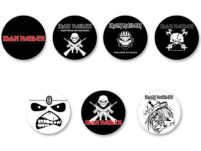 Lot Pack Badge Button Ø25mm Logo Iron Maiden Heavy Metal Hard Rock UK