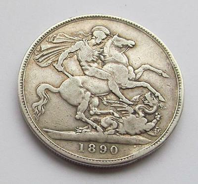 Victoria 1890 Jubilee Head Silver Crown - A quite good filler/collectable coin