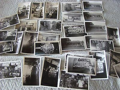 Lot of 30 Photographs of 1950's Grocery General Store Interior Product Displays