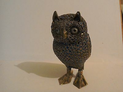 Unusual Decorative Mosaic Owl,....wire design with Mosaic pieces.