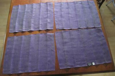 4 Unused Vintage Dansk Finnish Accent Linen Raisin Purple Napkins Ritva Puotila