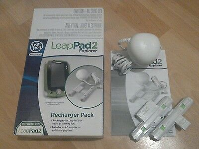 Leapfrog Leappad 2 Power Recharger pack -rechargeable batteries and AC adapter