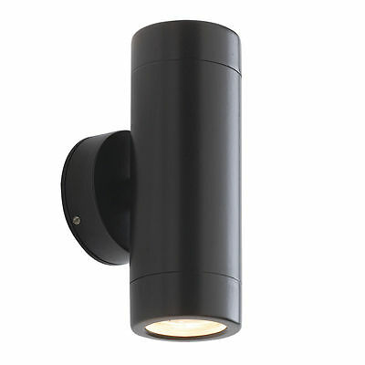 Saxby Endon - Odyssey - 35W Twin Satin Black IP44 Outdoor Up Down Wall Light
