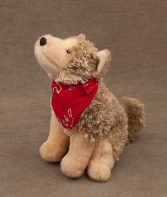 "plush TRICKSTER Douglas Cuddle Toy COYOTE red bandana 8"" #4069"