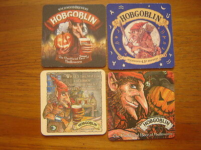 4  Different  Wychwood  Hobgoblin   Beer  Mats / Coasters  New