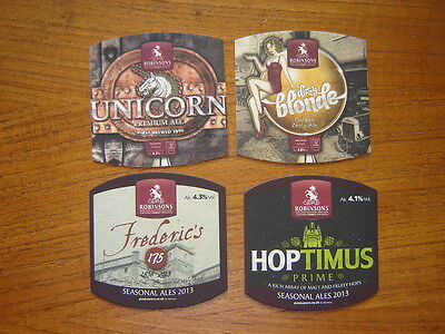 4  Different  Robinsons  Brewery   Beer  Mats / Coasters / Sous Bock  New