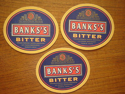 3  Banks  Bitter   Beer  Mats / Coasters  New