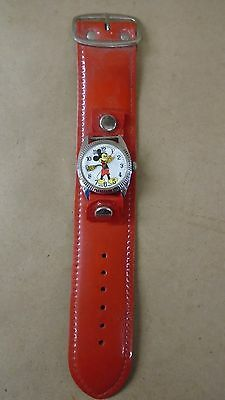 1960's Sorna Watch Co. Mickey Mouse Watch 1 Jewel Unajusted Swiss Movement