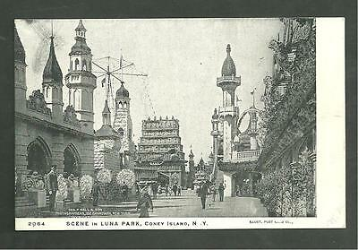 Pre 1910 Unused Postcard Scene In Luna Park Coney Island Brooklyn New York 2064