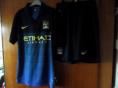 Manchester City Football Shirt & shorts Nike Away 2013 size M 39/41