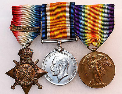 WW1 Medals Mons Trio ~ Edward Gildea ~ 2nd Inniskilling Fusiliers ~ Wounded
