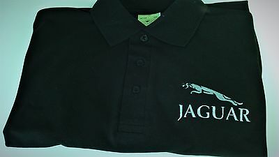 Personalised  polo shirt with Embroidered Jaguar design