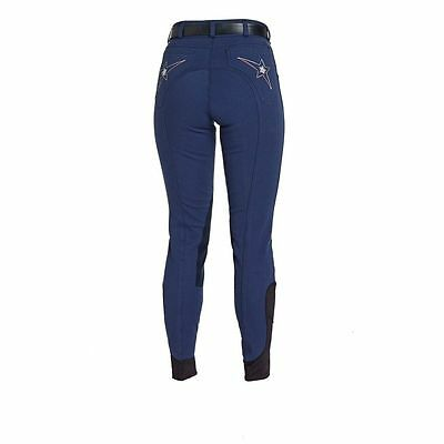 New ** Navy Caldene Flinton Breeches ** Diamante Star  Ladies Size 8/24 Long Leg