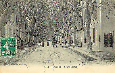 84  Cpa Animee 1912- Cavaillon- Cours Carnot