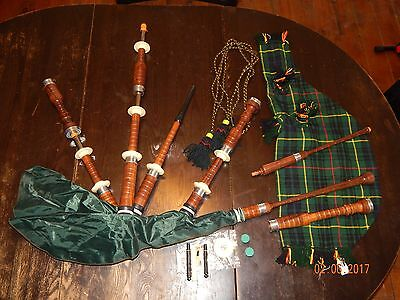 Bagpipes  Bannatyne synthetic bag WOOD PIPES