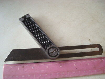 """Vintage Diecast Body 8"""" Sliding Spring Steel Bevel Very Good Used Condition"""