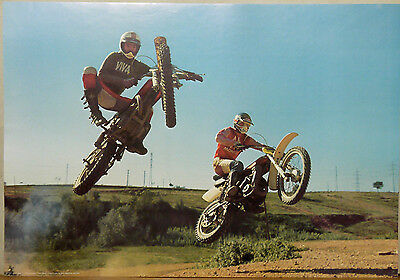 (Prl) Motocross Race Motorcycle Vintage Affiche Poster Art Print Collection