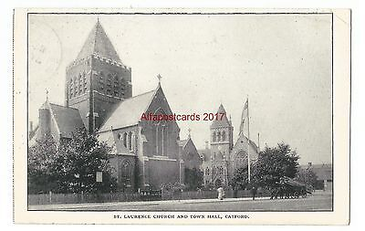 London Catford St Laurence Church & Town Hall 1907 Vintage Postcard