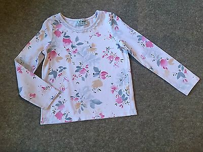 Girls Next Floral Detailed  L/s Top   Age 3 - 4 Years