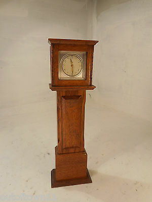 Vintage Miniature Oak Grandfather Clock  ref 2592