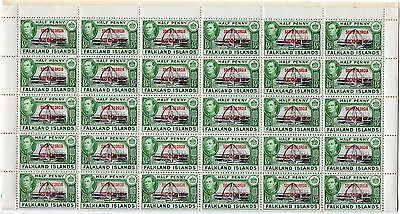 SOUTH ORKNEYS KGVI  1/2d  *** WHOLE SHEET ***