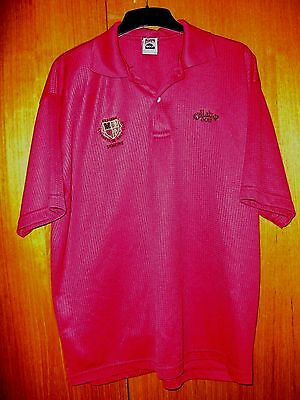 Callaway Golf Shirt Claret / Burgundy 100% Cotton size XL Atherstone Golf Club