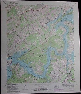Concord Tennessee Fort Loudoun Lake Tennessee River vintage 1985 USGS Topo chart