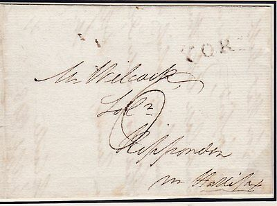 1808 York Castle (Prison) Surety Letter W? Staveley To Wilcock At Ripponden