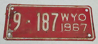 1967 Wyoming motorcycle license plate