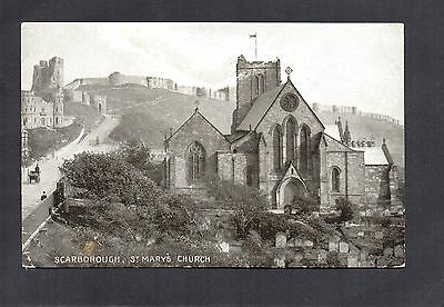 Scarborough St Mary's Church. Old Postcard In Queen Series