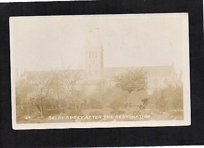 Real Photo Postcard Selby Abbey After Restoration, Dated 1913