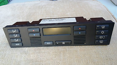 BMW  E39 Climate Control Panel A/C Display with REST Button 1996-2000
