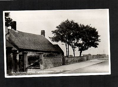 THE THATCHED COTTAGE, MARSKE Nr REDCAR. REAL PHOTO POSTCARD UNPOSTED