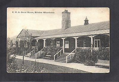 C.h.a. Guest House, Hebden Wharfedale. Unposted Postcard By Grimshawes