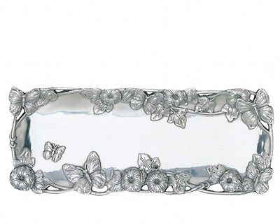 Arthur Court's Small Butterfly Oblong Tray BEAUTIFULLY ELEGANT STAND ALONE PC!!!