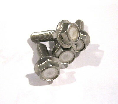 Metric Stainless Flange Bolt A2 M6x12 mm  Pkg of 10.