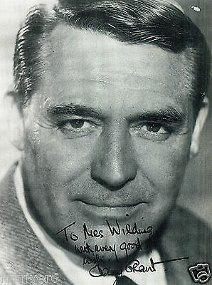 CARY GRANT Signed Photograph - Film Actor - Preprint