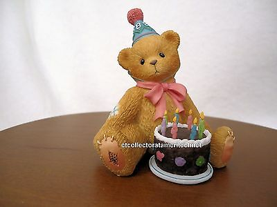 Cherished Teddies Birthday Bear Age 8  1998 NIB