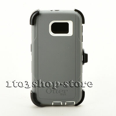 Otterbox Defender Hard Case Cover w/Belt Clip for Samsung Galaxy S6 (Gray/White)