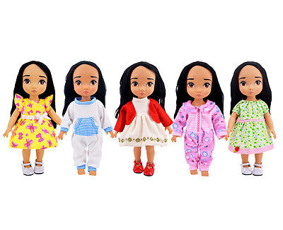 Ramdon Style 5-Piece Bitty Baby Doll's Clothes for 14-16 Inch American Girl Doll
