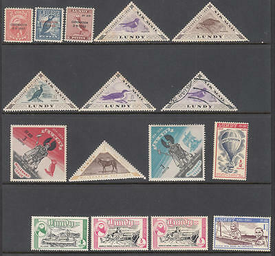GB Lundy Island Local Post collection 16 diff stamps