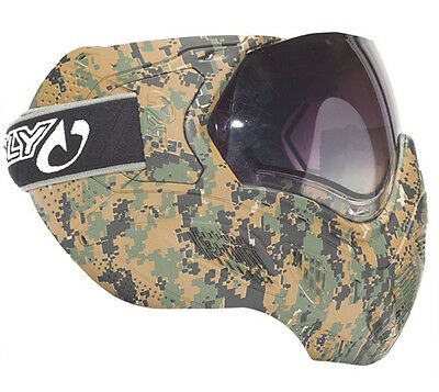 Sly Profit Thermal Full Camo Paintball Goggles - Marine Pattern