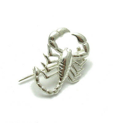Argento Sterling Spilla Scorpione Solid 925 New A000107
