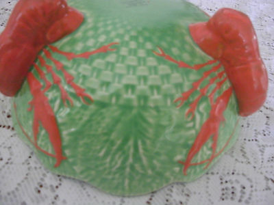 Large Crayfish Footed Bowl Crown Devon England Mid Century