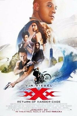 XXX THE RETURN OF XANDER CAGE great original ds 27x40 movie poster