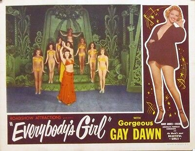EVERYBODY'S GIRL original 11x14 lobby card from 1950